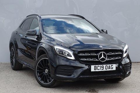 Black Mercedes-Benz Gla-class Gla 200 AMG Line Edition 2019