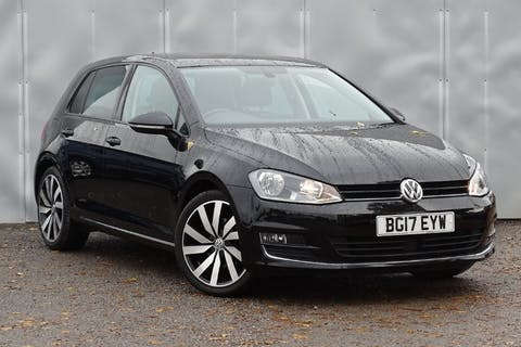 Black Volkswagen Golf GT Edition TSI Act Bmt 2017