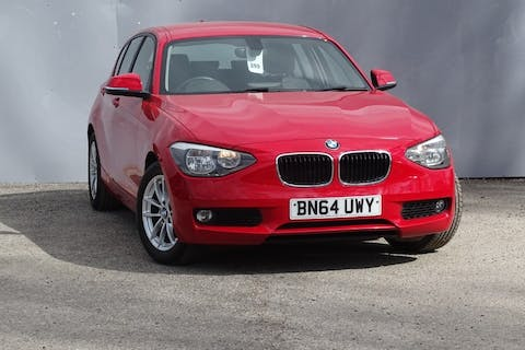 Red BMW 1 Series 116d Efficientdynamics Business 2014