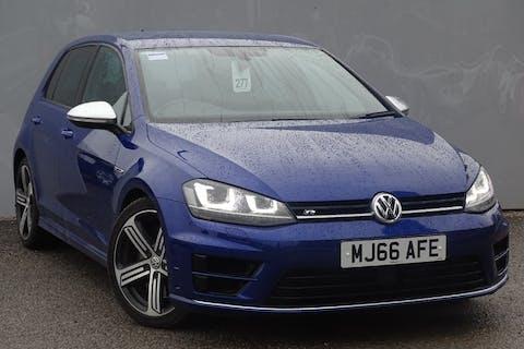 Blue Volkswagen Golf R DSG 2016