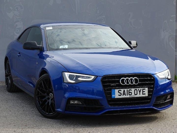Blue Audi A5 TDI Quattro Black Edition Plus 2016