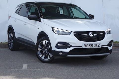 White Vauxhall Grandland X Sport Nav S/S 2018