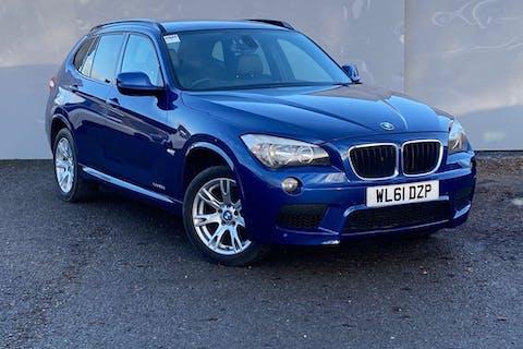 Blue BMW X1 Xdrive20d M Sport 2011