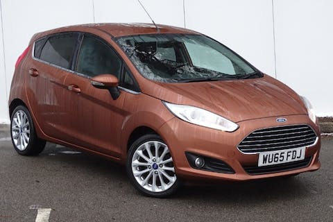 Brown Ford Fiesta Titanium X 2015