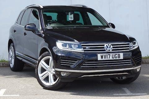 Black Volkswagen Touareg V6 R-line Plus TDI Bluemotion Technology 2017