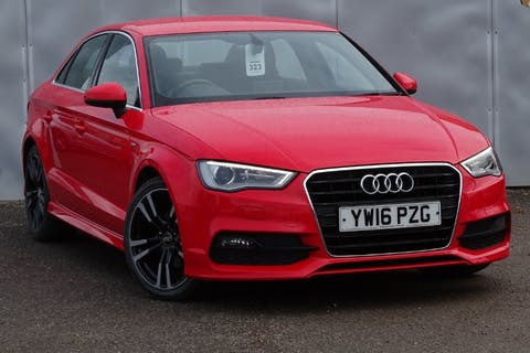 Red Audi A3 TDI S Line 2016