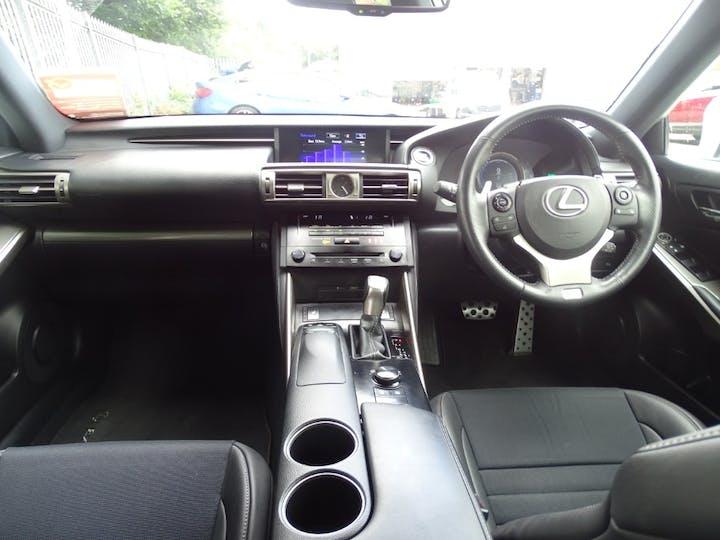 White Lexus Is 300h F Sport 2014