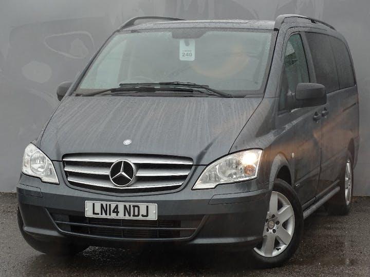 Grey Mercedes-Benz Vito 122 CDi Dualiner 2014