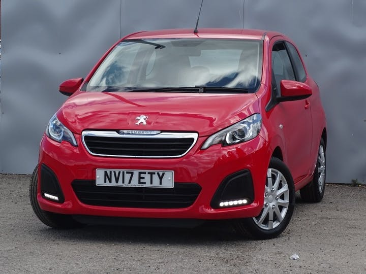 Red Peugeot 108 Active 2017