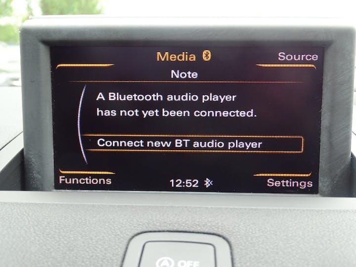 Blue Audi A1 Sportback TDI Sport 2013