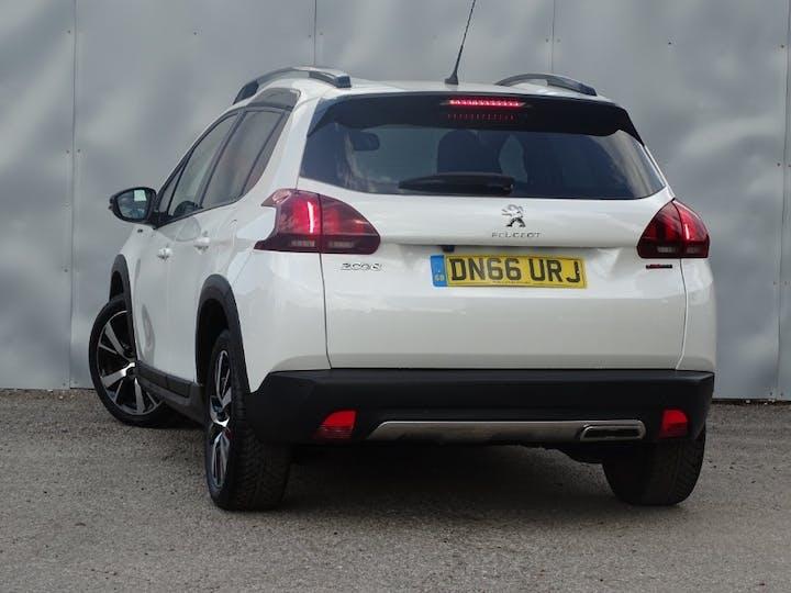 White Peugeot 2008 Puretech S/S GT Line 2016