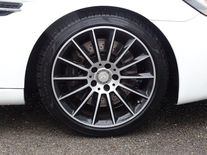 White Mercedes-Benz Slc Slc 200 AMG Line 2016