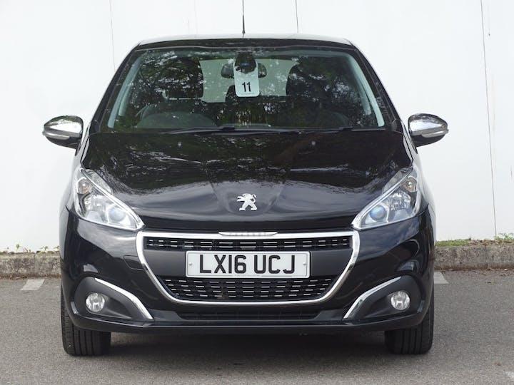 Black Peugeot 208 Allure 2016