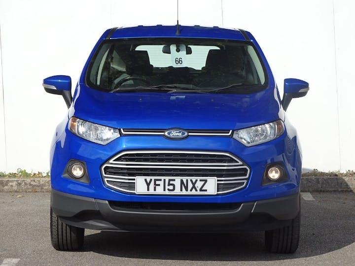 Blue Ford Ecosport Zetec TDCi 2015