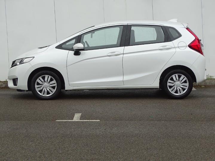 White Honda Jazz I-vtec S 2015
