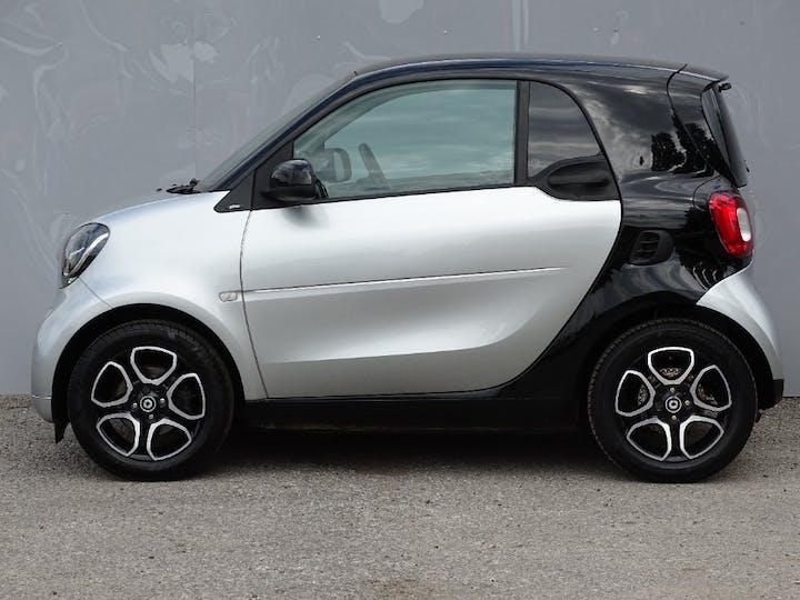 Silver smart Fortwo Coupe Prime Premium T 2015