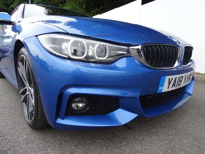 Blue BMW 4 Series 420d M Sport Gran Coupe 2018