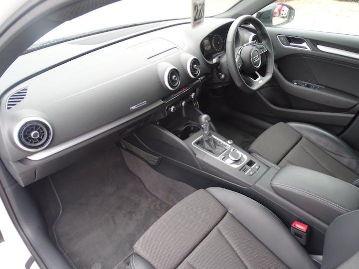 White Audi A3 Sportback TFSI Black Edition 2018